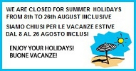 Summer closure 2016
