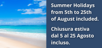 Summer closure 2021